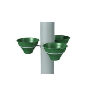 """Конструкция для цветочных вазонов на столб для 3 """"Колокольчиков"""""""