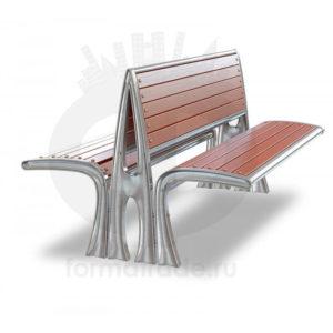 Скамейка алюминиевая двухсторонняя «Сидней»