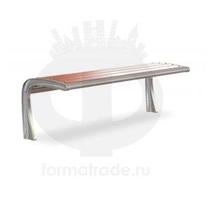 Скамейка алюминиевая без спинки «Сидней»