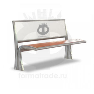 Скамейка алюминиевая рекламная «Сидней без подлокотников»