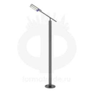 Стальной фонарный столб «Модерн-С» со светильником