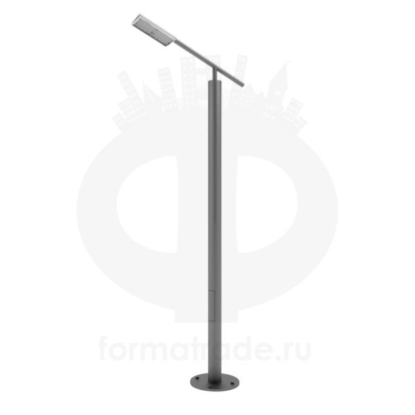 Стальной фонарный столб «Модерн-Э» со светильником
