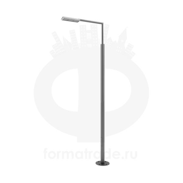 Стальной фонарный столб «Поло-Э» со светильником