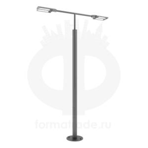 Стальной фонарный столб «Поло2-С» со светильником