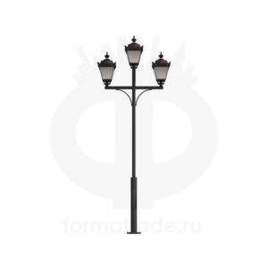 Стальной фонарный столб Ретро 3 мод.17