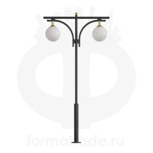 Стальной фонарный столб Т-03-2 со светильниками