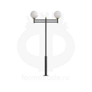 Стальной фонарный столб Т-13-2 со светильниками