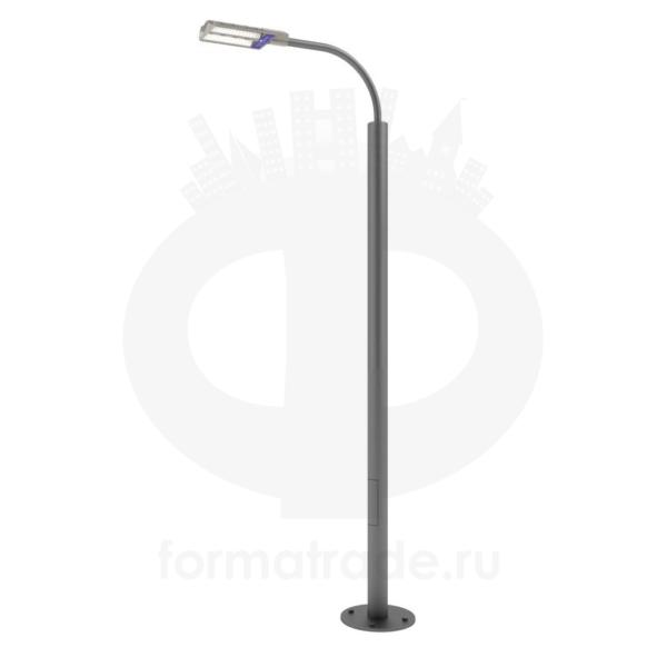Стальной фонарный столб «Техно-С» со светильником