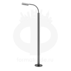 Стальной фонарный столб «Техно-Э» со светильником