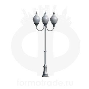 Фонарь уличный «Лотос-3» со светильниками