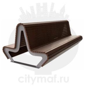 Скамейка двухсторонняя «Парк М. Горького»