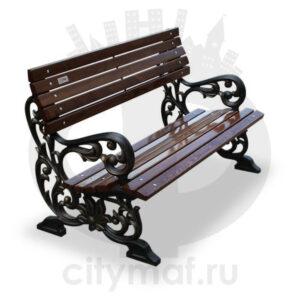 Скамейка чугунная «Жасмин»