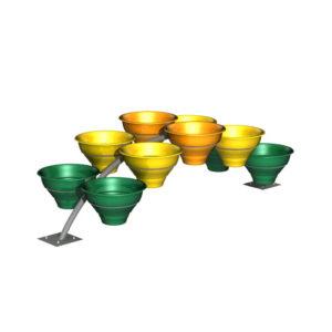 Цветочные вазоны на конструкции «Мостик 10»