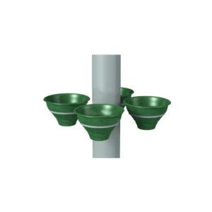 Конструкция для цветочных вазонов на столб для 4 «Колокольчиков»