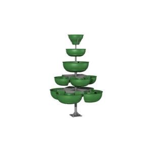 Конструкция из вазонов для цветов «Ёлочка5»
