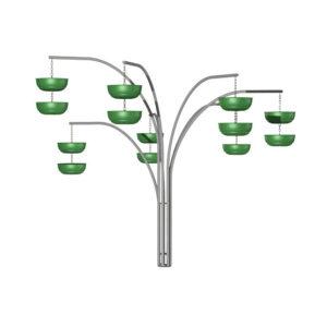 Форма из вазонов для цветов «Фонтан»
