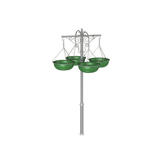 Конструкция уличных вазонов для цветов «Фонарь»