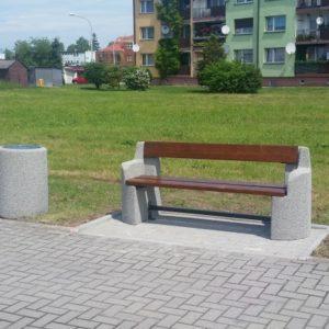 Скамейка бетонная 404