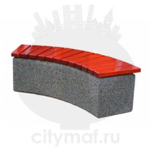 Лавочка бетонная 411