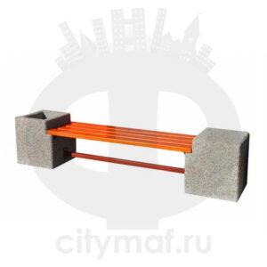 Лавочка бетонная 425