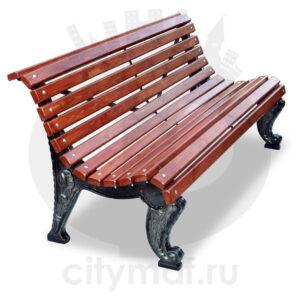 Скамейка чугунная парковая «Отдых»