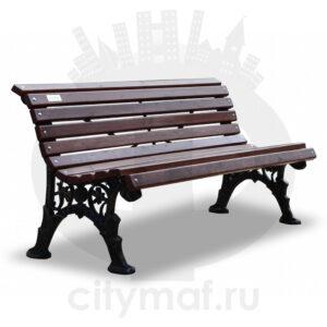 Скамейка чугунная «Ажурная без подлокотников»