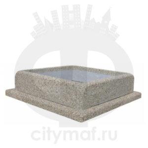 Квадратный бетонный вазон 258