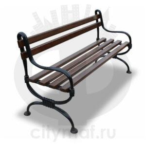 Скамейка чугунная чугунная «Мелодия»