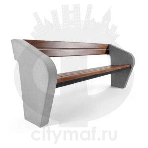Скамейка из бетона Наван