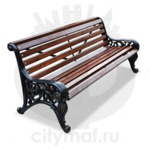 Скамейка чугунная «Парковая тишь»