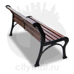 Скамейка чугунная «Ретро стиль» без подлокотников
