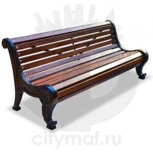 Чугунная скамейка парковая «Родник»