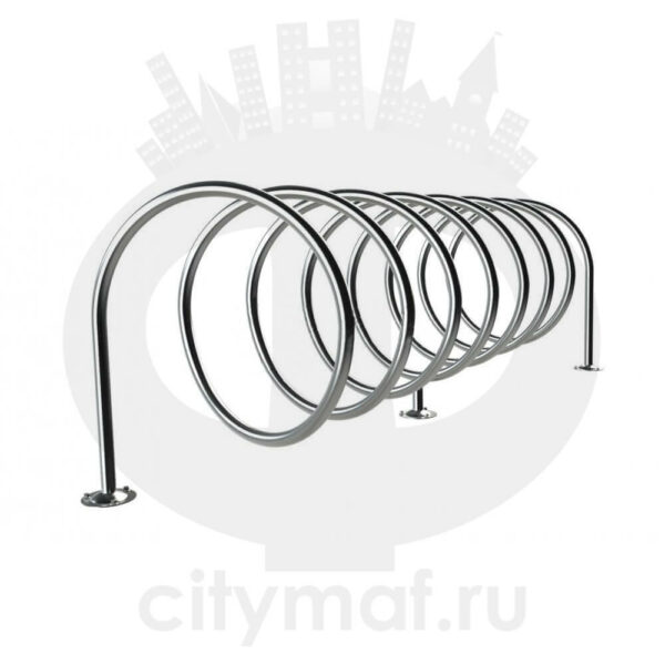 Велопарковка «Спираль» из нержавейки