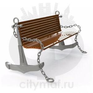 Скамейка чугунная «Якорь»