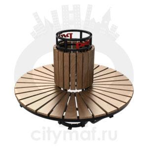 Скамейка вокруг дерева или столба «Экспресс»