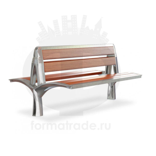 Скамейка алюминиевая двухсторонняя «Лилия»