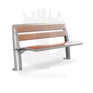Скамейка алюминиевая «Лилия»