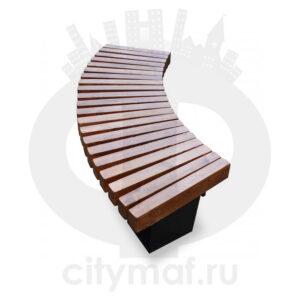 Уличная скамейка безспинки «Радиус»