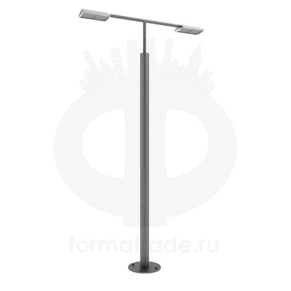 Стальной фонарный столб «Поло2-Э» со светильником