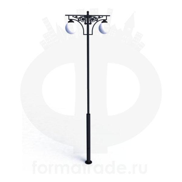 Стальной фонарный столб Т-04-2 со светильниками