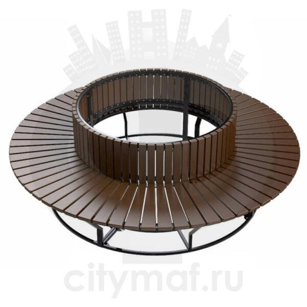 Уличный диван-скамейка «Круглый»
