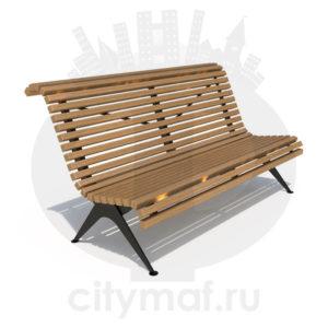 Скамейка стальная «Балтика»