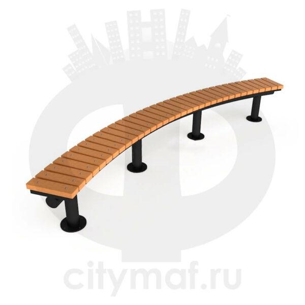 Полукруглая уличная скамейка «Дуга»