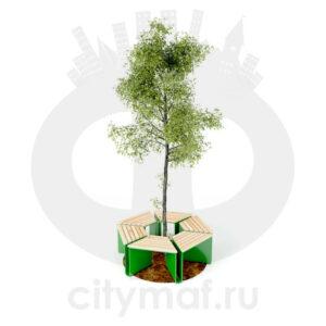 Скамейка вокруг дерева «Эраунд2»
