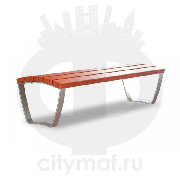 Скамейка уличная «Лицей УНИ без спинки»