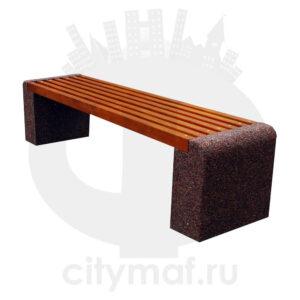 Скамейка бетонная Евро-1 без спинки