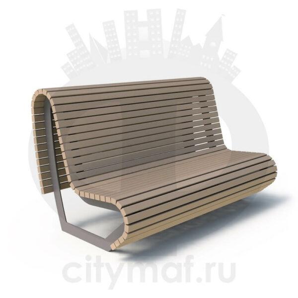 Скамейка стальная «Парабола»