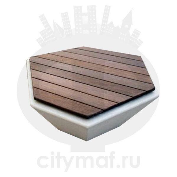 """Скамейка бетонная """"Шестигранная"""""""