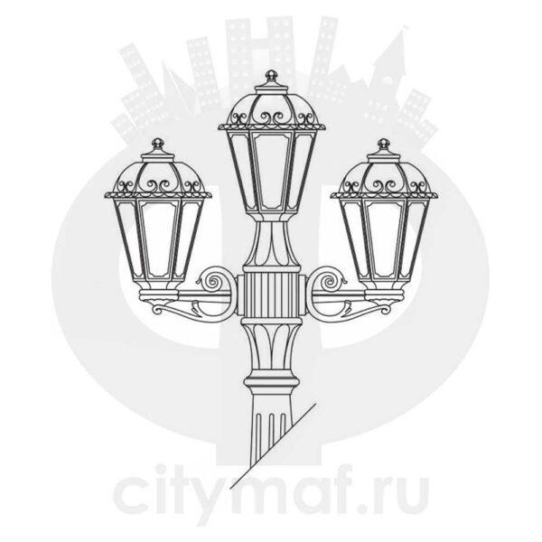 Светильник уличный FUMAGALLI ARTU` BISSO/SABA 2+1 K22.158.S21.AXF1R