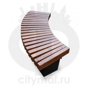 Уличная скамейка без спинки «Радиус»